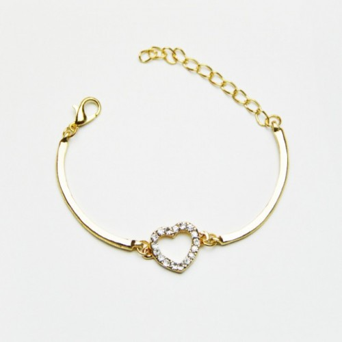 Golden Crystal Heart-armband