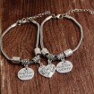 2 st best friend no-matter where Armband silver