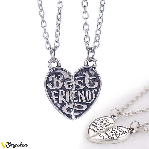 "Best Friends halsband 2st hjärtan ""Friends Forever Apart Or Together Sterling"""