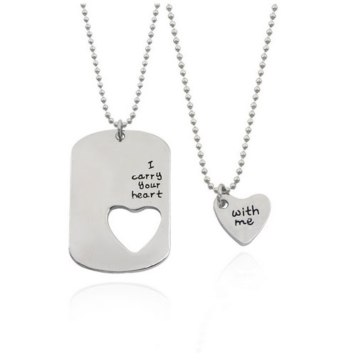 i carry your heart with me 2 st halsband