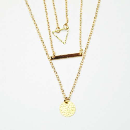 Triple Detail Necklace