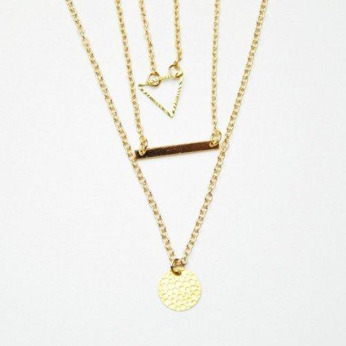 Triple Detail Necklace