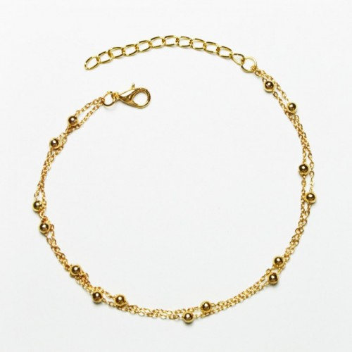 Armband  guldig - Double Chain