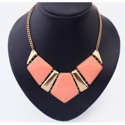Choker Necklace - Guldig rosa