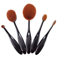 Oval Sminkborstar - 5-pack oval brush