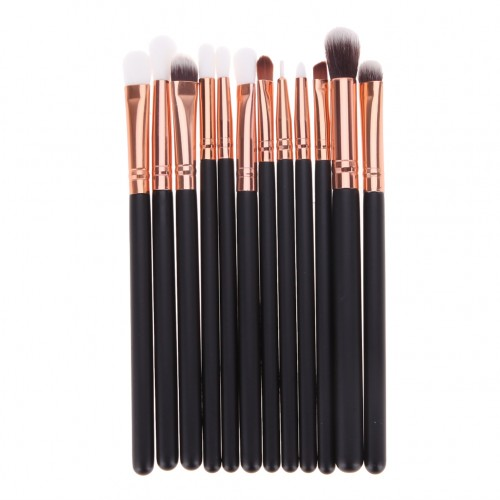 12st Makeup Brushes - Goals black ± Svamp
