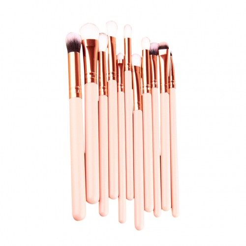 12st Makeup Brushes - Goals Rosé ± Svamp