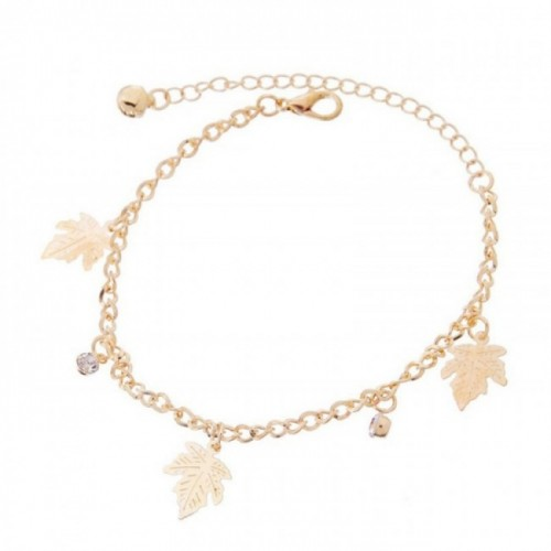 Charm Bracelet - Crystal Fall Leaves