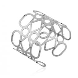 Silver Armband - Metallic Lace